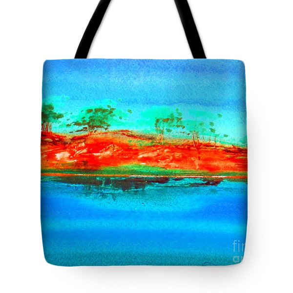 Tote Bag featuring the painting Australia Billabong 2 Intense by Roberto Gagliardi