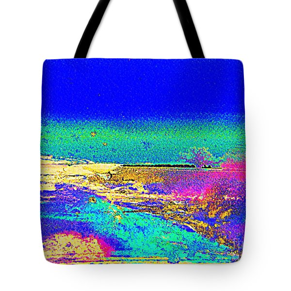 Tote Bag featuring the painting Australian Beach by Roberto Gagliardi