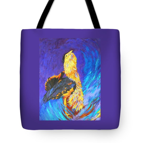 Australian Bustard Displaying Tote Bag