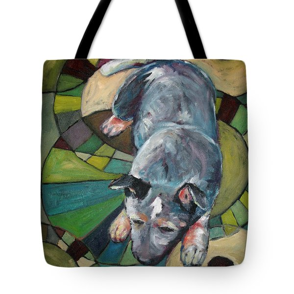 Australian Cattle Dog Nap Time Tote Bag