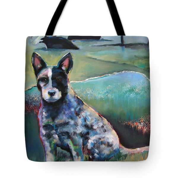 Australian Cattle Dog With Coat Of Many Colors Tote Bag