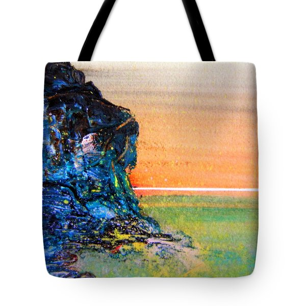 Tote Bag featuring the painting Australian Cliff by Roberto Gagliardi