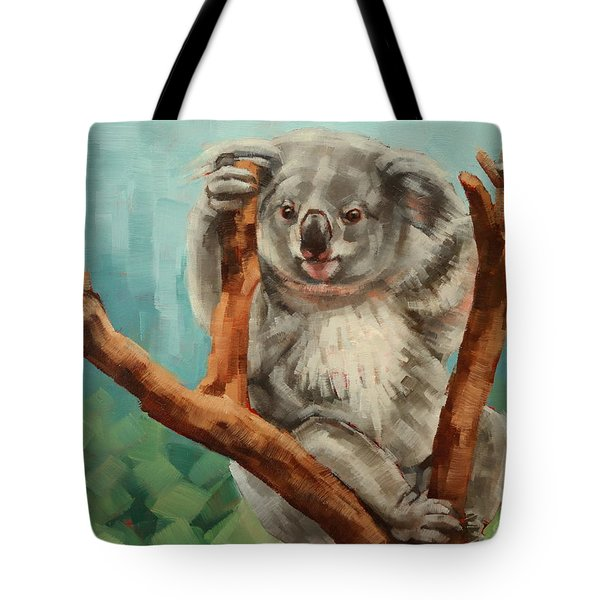 Australian Koala Tote Bag by Margaret Stockdale