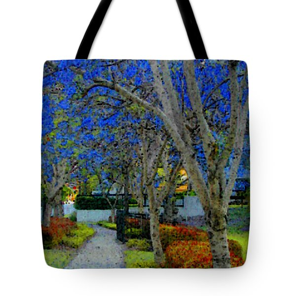 Australia's Blue Blossoms Tote Bag by Lenore Senior and Constance Widen