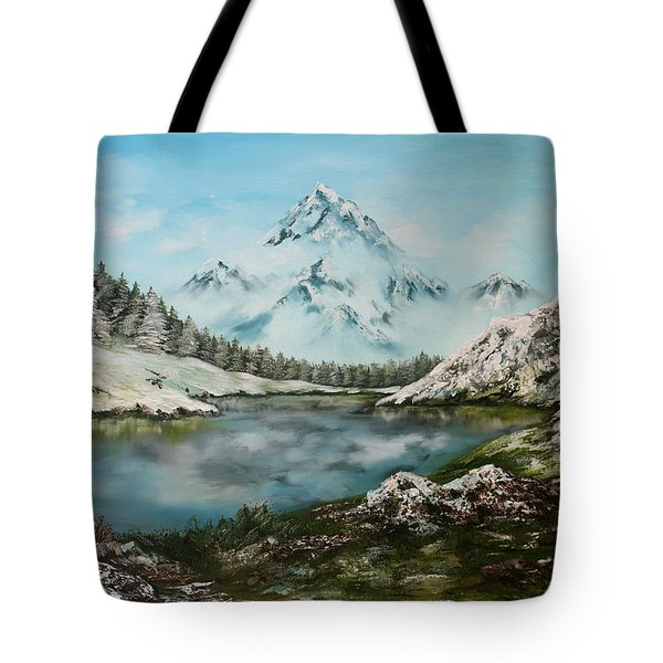 Tote Bag featuring the painting Austrian Lake by Jean Walker