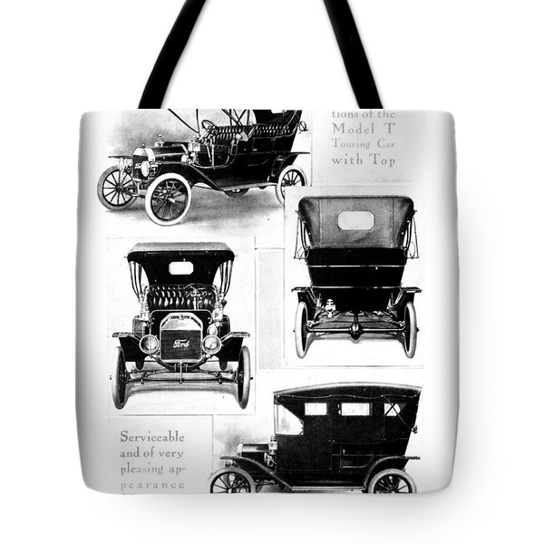 Automobile Advertisement Tote Bag by Granger