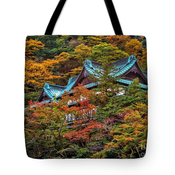 Tote Bag featuring the photograph Autum In Japan by John Swartz