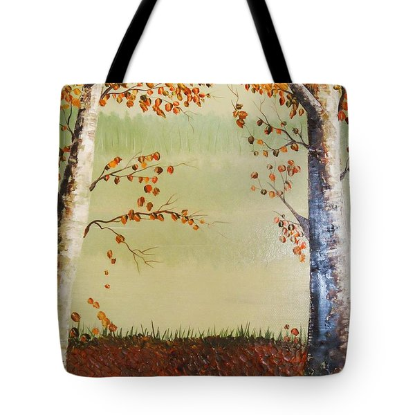 Autum On The Ema River  2 Tote Bag