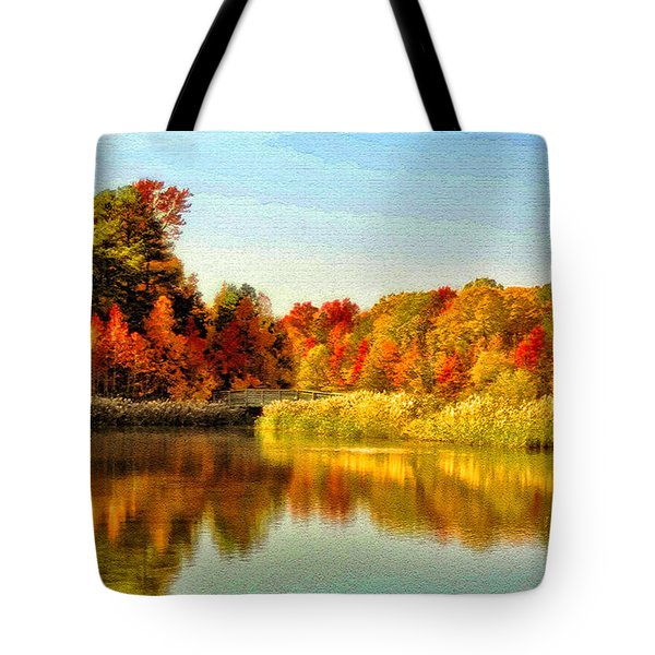 Autumn Ablaze Tote Bag