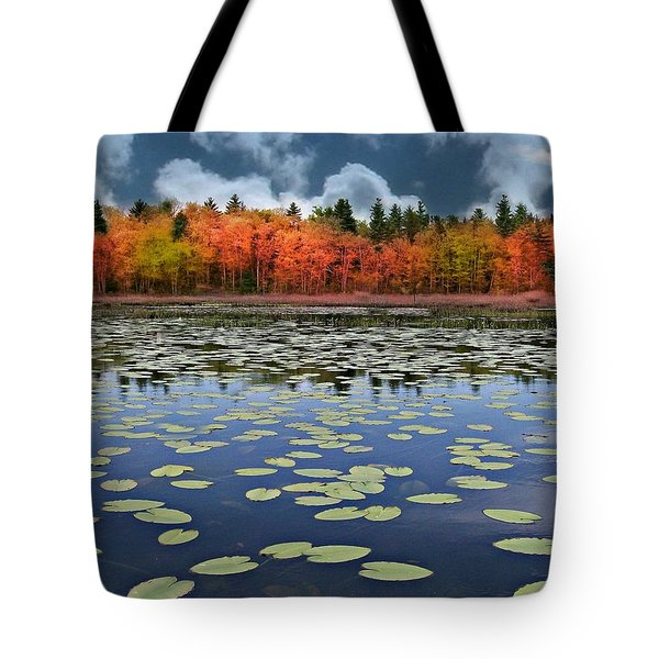 Autumn Across The Pond Tote Bag