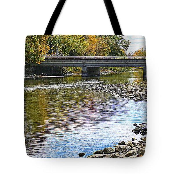 Autumn Along The Fox River Tote Bag
