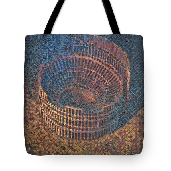 Tote Bag featuring the painting Autumn Amphitheatre by Mark Howard Jones