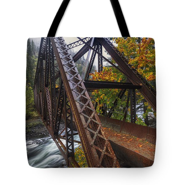 Autumn And Iron Tote Bag