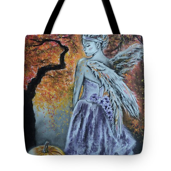 Autumn Angel Tote Bag by Carla Carson