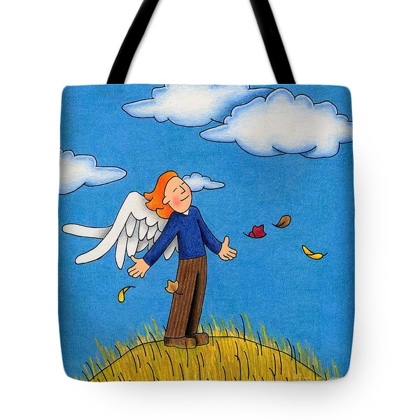 Autumn Angel Tote Bag by Sarah Batalka