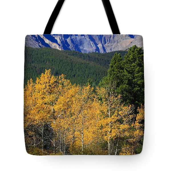 Autumn Aspens And Longs Peak Tote Bag