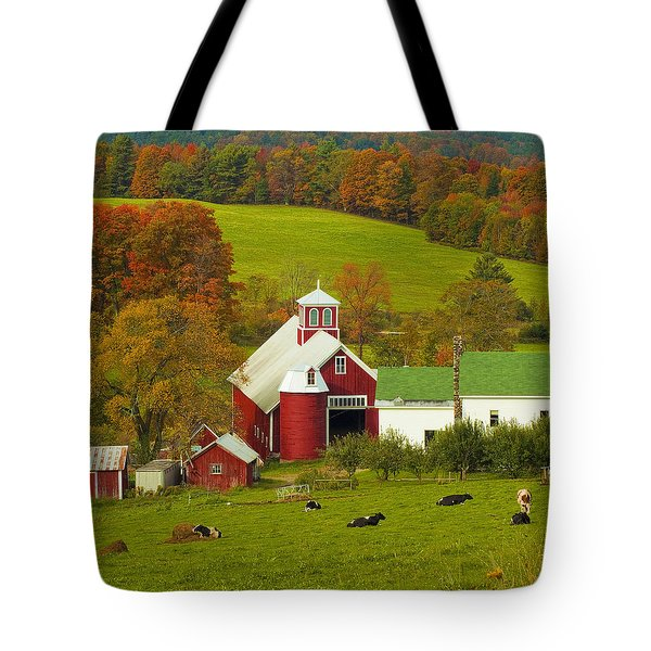 Autumn At Bogie Mountain Dairy Farm Tote Bag