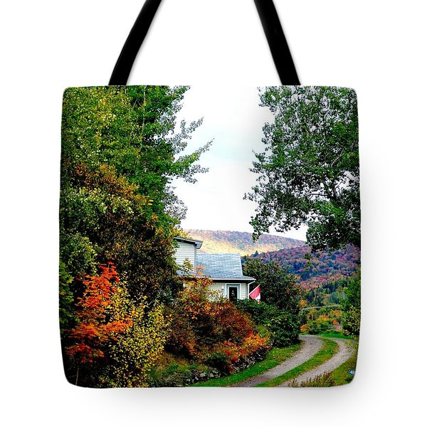Autumn At French River Tote Bag by Janet Ashworth