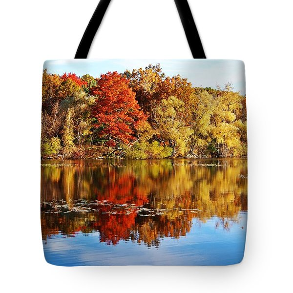 Autumn At Horn Pond Tote Bag by Joe Faherty