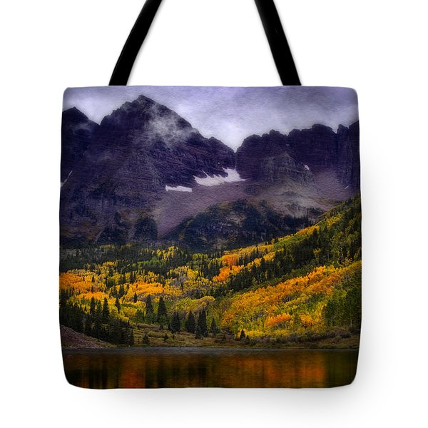 Tote Bag featuring the photograph Autumn At Maroon Bells by Ellen Heaverlo