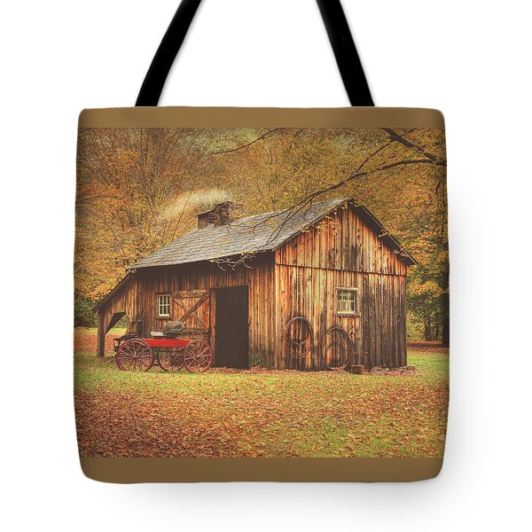 Autumn At Millbrook Village -the Blacksmith Shop Tote Bag
