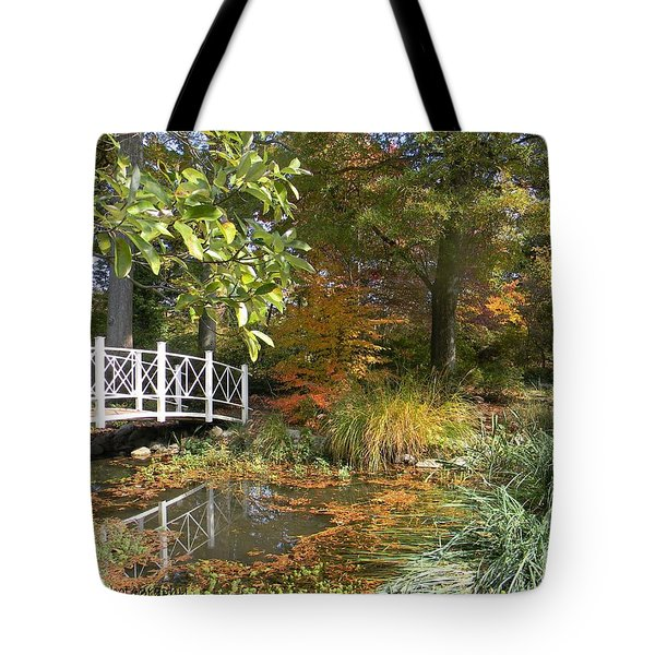 Autumn At Sayen Gardens Tote Bag