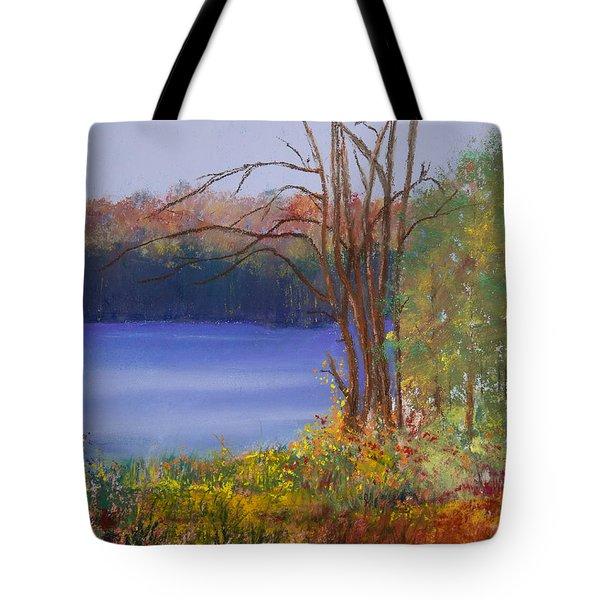 An Autumn Day At Cary Lake Tote Bag