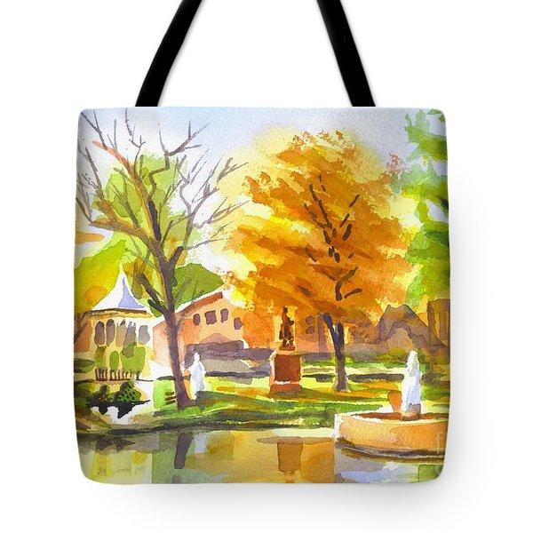 Autumn At The Villa Tote Bag by Kip DeVore