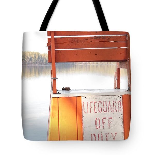 Autumn At White Lake Tote Bag