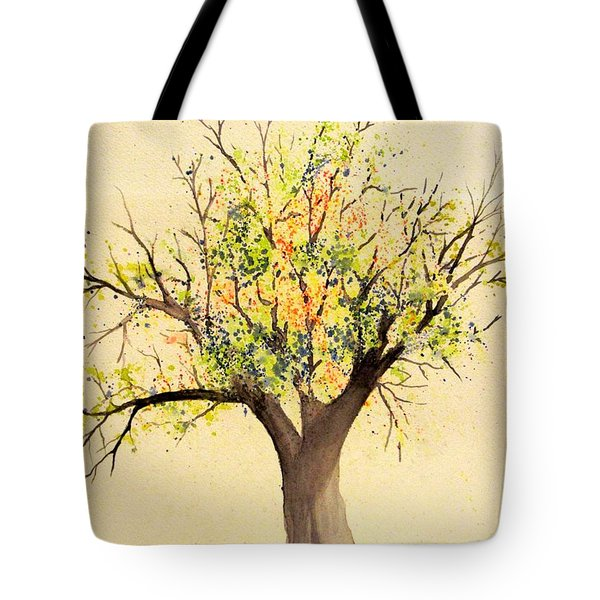 Autumn Backyard Tree Tote Bag