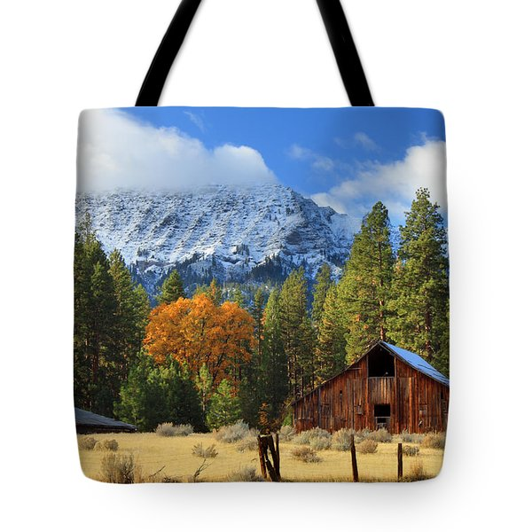 Autumn Barn At Thompson Peak Tote Bag
