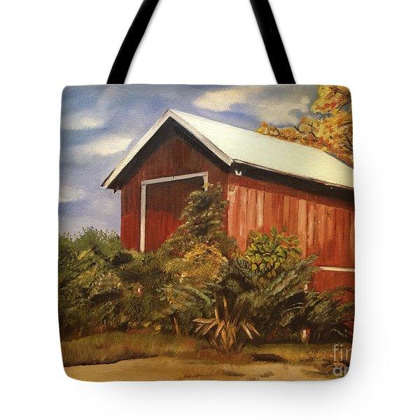 Autumn - Barn - Ohio Tote Bag