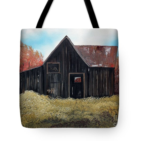 Autumn - Barn -orange Tote Bag by Jan Dappen