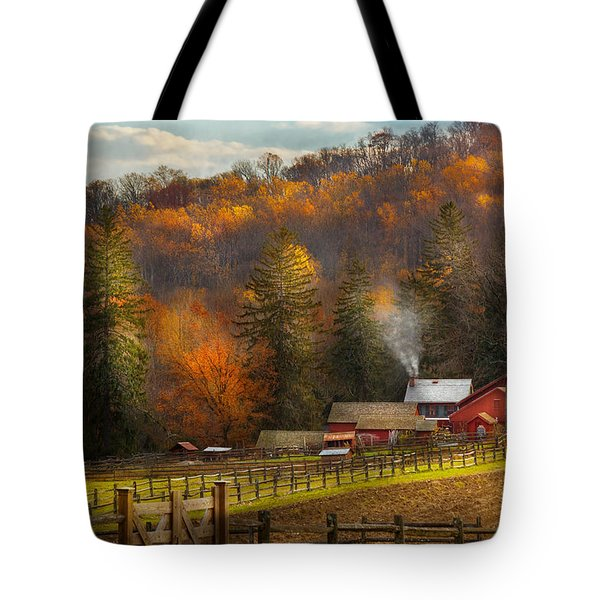 Autumn - Barn - The End Of A Season Tote Bag