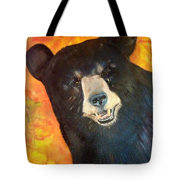 Autumn Bear Tote Bag by Jan Dappen