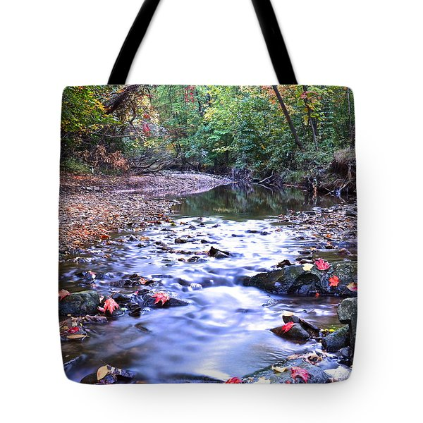 Autumn Begins Tote Bag by Frozen in Time Fine Art Photography