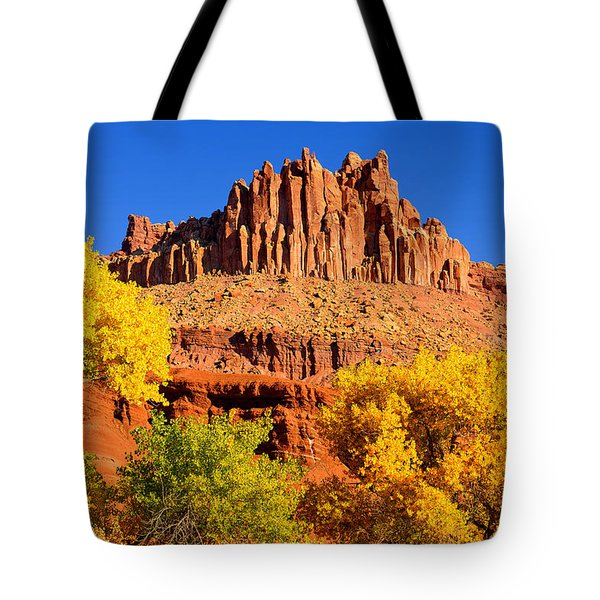 Autumn Beneath The Castle Tote Bag