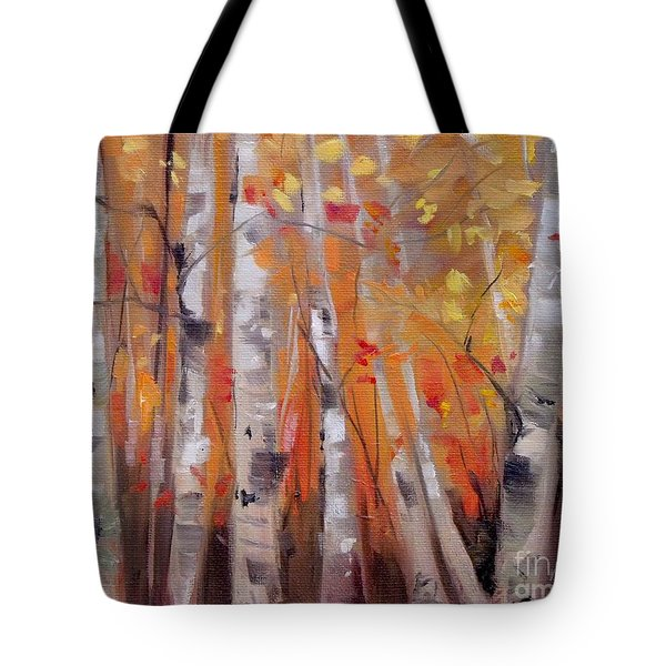Autumn Birch Tote Bag by Mary Hubley