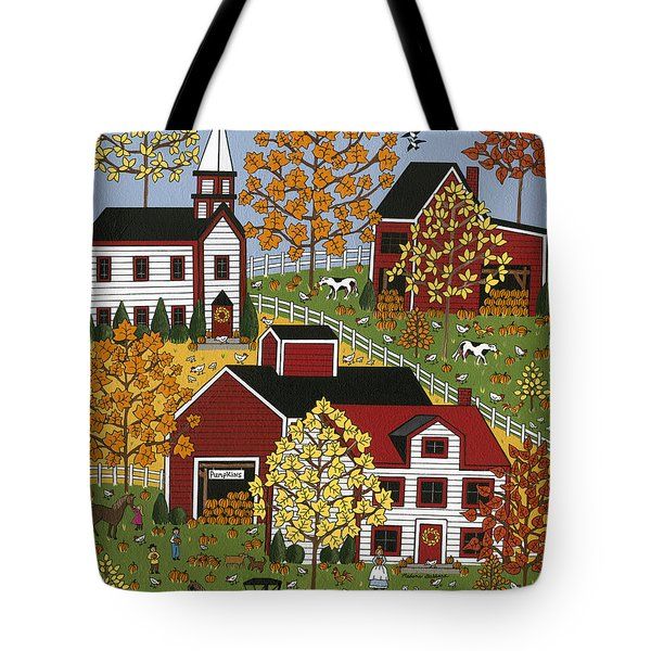 Autumn Blessings Tote Bag by Medana Gabbard