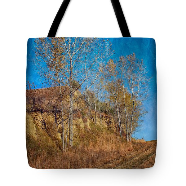 Autumn Bluff Painted Tote Bag by Nikolyn McDonald