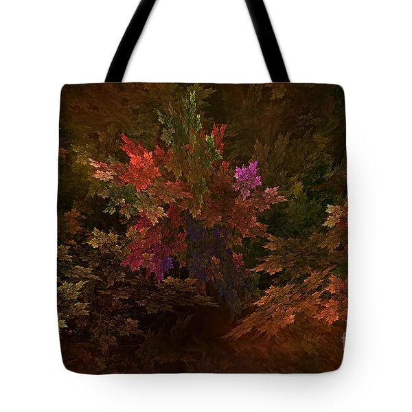 Tote Bag featuring the digital art Autumn Bouquet by Olga Hamilton