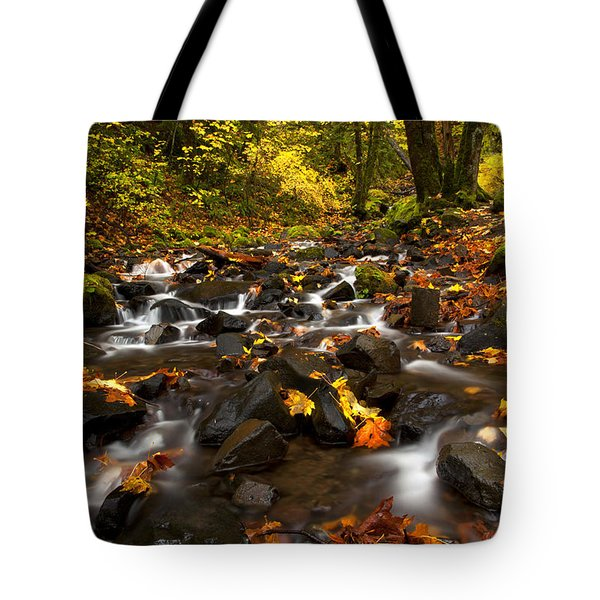 Autumn Breeze Tote Bag by Mike  Dawson