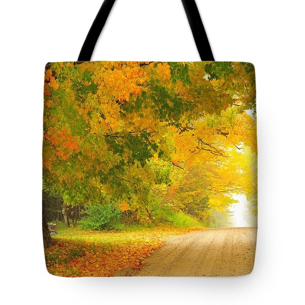 Autumn Cascade Tote Bag by Terri Gostola