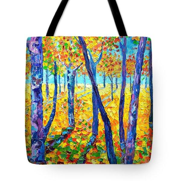 Autumn Colors Tote Bag by Ana Maria Edulescu