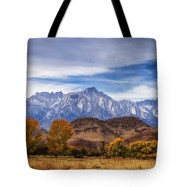 Autumn Colors And Mount Whitney Tote Bag
