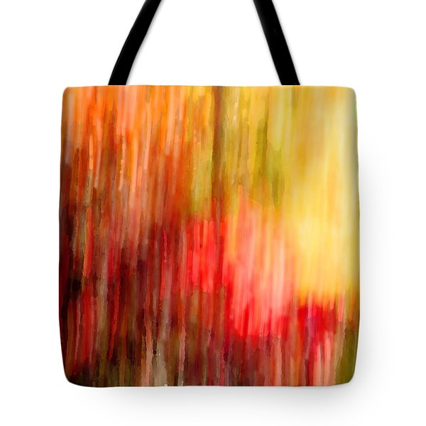 Autumn Colors In Abstract Tote Bag