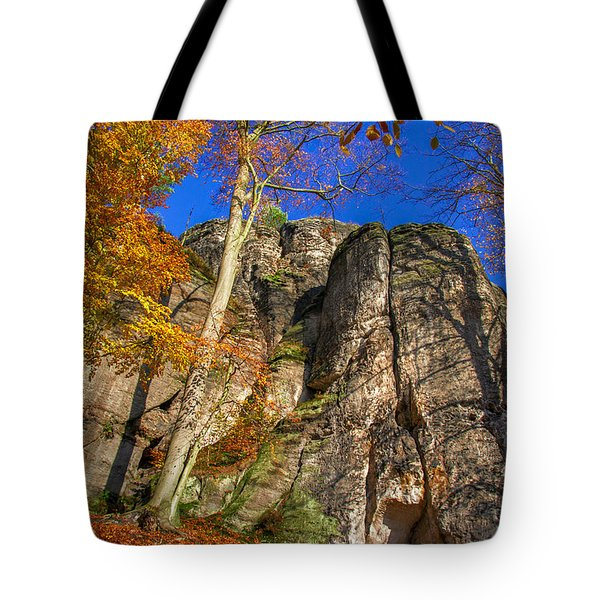 Autumn Colors In The Saxon Switzerland Tote Bag