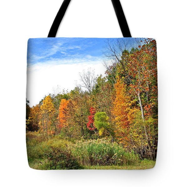 Autumn Colors Tote Bag by Frozen in Time Fine Art Photography