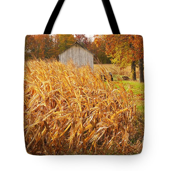 Autumn Corn Tote Bag by Mary Carol Story