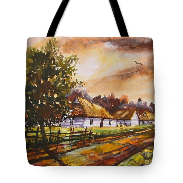 Autumn Cottages Tote Bag